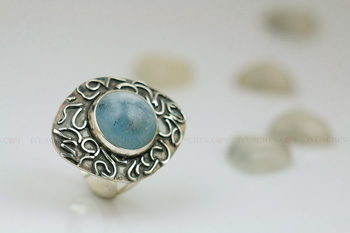 aquamarine sterling silver ring 350 10 5835