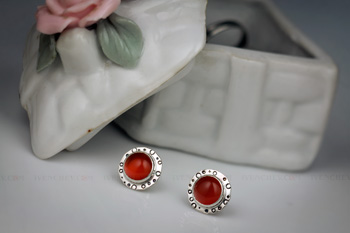 carnelian sterling silver stud earrings 350