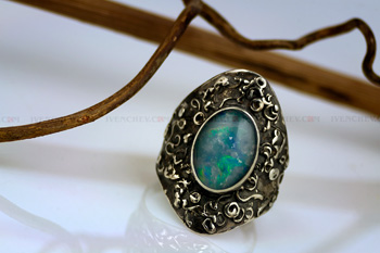 opal triplet sterling silver ring 350 09 8244