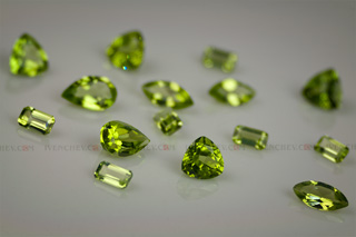 peridot faceted trillion pear marquise octagon 320 09 8255